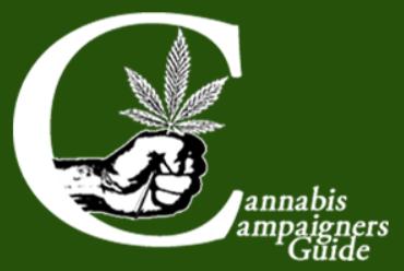 Hand holding a hemp leaf inside a big C