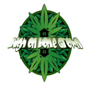 cartoon mirror cannabis leaf with high on home grown in white
