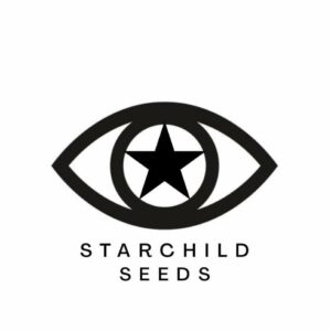 Black and white image outline of an eye with star as the pupil