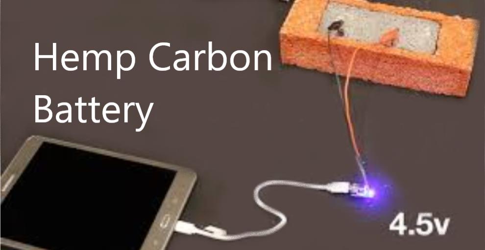 Hemp battery charging an ipad